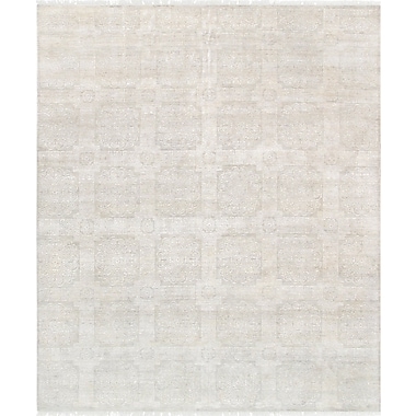 Pasargad Transitional Hand Knotted Wool Silver/Ivory Area Rug