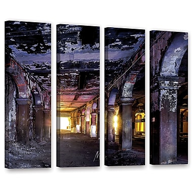 17 Stories 'Abandoned Subway 1' Photographic Print Multi-Piece Image on Canvas in Purple/Blue