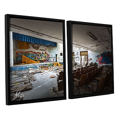 17 Stories 'Abandoned School 1' Rectangle Photographic Print Multi-Piece Image on Canvas
