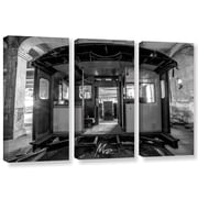 17 Stories 'Abandoned Subway 3' Photographic Print Multi-Piece Image on Canvas in Gray/Black