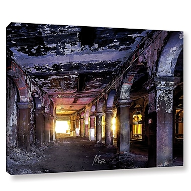 17 Stories 'Abandoned Subway 1' Photographic Print on Wrapped Canvas; 8'' H x 10'' W x 2'' D
