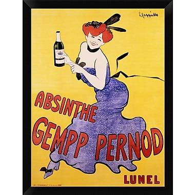 East Urban Home 'Absinthe Gempp Pernod 1903' Framed Graphic Art Print; 16'' H x 12'' W