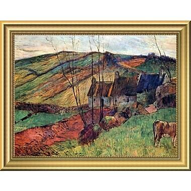 East Urban Home 'Breton Landscape 1888' Framed Oil Painting Print; 11'' H x 14'' W