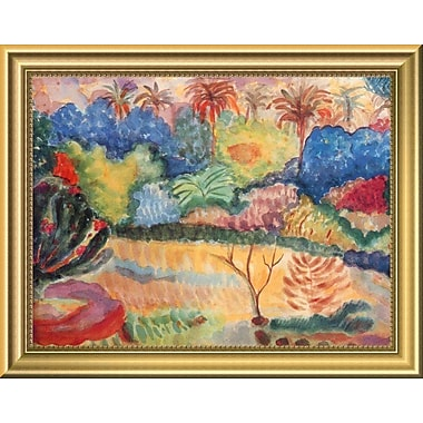 East Urban Home 'Tahitian Landscape' Framed Oil Painting Print; 14'' H x 18'' W