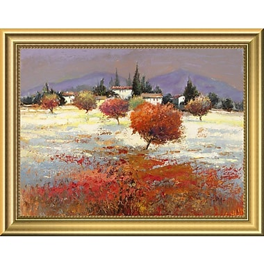 East Urban Home 'Dolci Colline' Framed Oil Painting Print; 11'' H x 14'' W