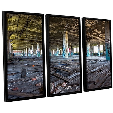 17 Stories 'Abandoned Warehouse' Framed Photographic Print Multi-Piece Image on Canvas in Blue/Brown