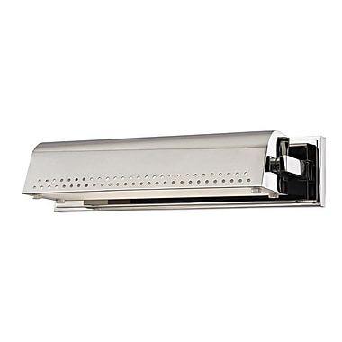 17 Stories Eloi 1-Light 9W LED Wall Sconce; Polished Nickel
