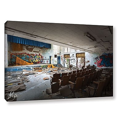 17 Stories 'Abandoned School 1' Photographic Print on Wrapped Canvas; 8'' H x 12'' W x 2'' D