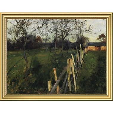 East Urban Home 'Home Fields' Framed Oil Painting Print; 14'' H x 18'' W
