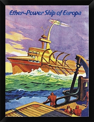 East Urban Home 'Ether-Powership of Europa' Framed Graphic Art Print; 16'' H x 12'' W