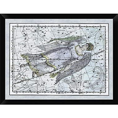 East Urban Home 'Maps of the Heavens: Virgo the Maiden' Framed Graphic Art Print; 12'' H x 16'' W