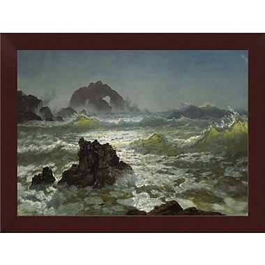 East Urban Home 'Seal Rock California' Framed Oil Painting Print; 14'' H x 18'' W