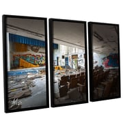 17 Stories 'Abandoned School 1' Rectangle Framed Photographic Print Multi-Piece Image on Canvas
