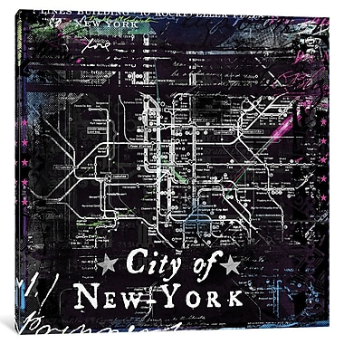 Williston Forge 'City of New York' Graphic Art on Wrapped Canvas; 37'' H x 37'' W x 0.75'' D