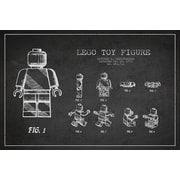 Williston Forge 'Lego Dark Patent Blueprint' Vintage Advertisement on Wrapped Canvas