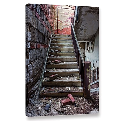 Williston Forge 'Abandoned Stairs' Photographic Print on Wrapped Canvas; 36'' H x 24'' W x 2'' D