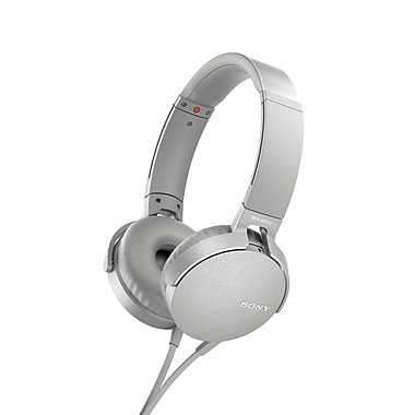 Sony - Casque d'écoute supra-auriculaire MDR-XB550AP/B EXTRA BASS™, blanc