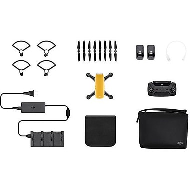 DJI Spark Quadcopter Selfie Drone Fly More Combo, Sunrise Yellow (CP.PT.000900)