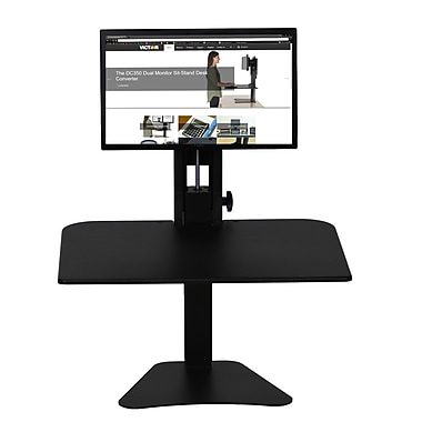 Victor® High Rise Sit-Stand Desk Converter (DC300)