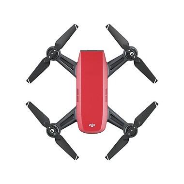 DJI – Offre groupée Fly More pour Spark, drone quadricoptère d'égoportrait, magma rouge (CP.PT.000901)