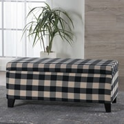 August Grove Lembach Fabric Storage Ottoman