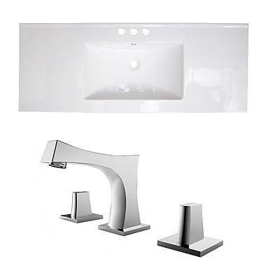 Bloomsbury Market Zia Ceramic 48'' Single Bathroom Vanity Top w/ Handles