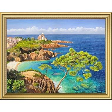 East Urban Home 'Costa del Mediterraneo' Framed Oil Painting Print; 14'' H x 18'' W