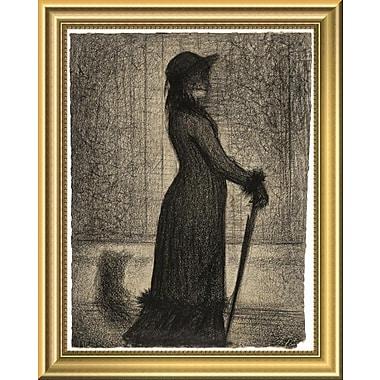 East Urban Home 'Une Elegante Woman Strolling' Framed Graphic Art Print; 14'' H x 11'' W