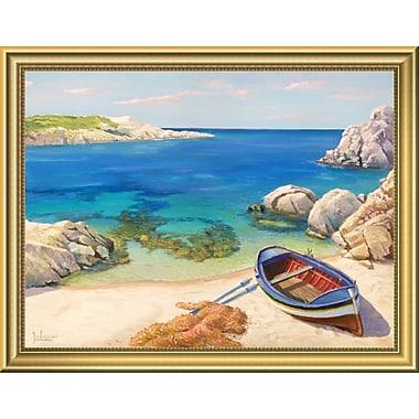 East Urban Home 'Sardegna' Framed Oil Painting Print; 14'' H x 18'' W