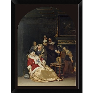 East Urban Home 'The Doctor's Visit' Framed Oil Painting Print; 16'' H x 12'' W