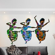 Style and Apply African Art Dancers Wall Decal; 39'' H x 59'' W