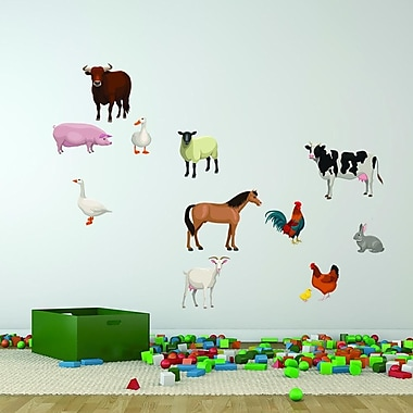 Style and Apply Farm Animal Set Wall Decal; 39'' H x 39'' W