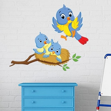 Style and Apply Mama and Baby Birds Wall Decal; 39'' H x 33'' W