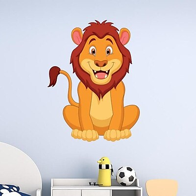 Style and Apply Happy Lion Wall Decal; 46'' H x 34'' W
