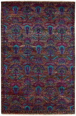 Bloomsbury Market Pinos Hand knotted Purple Area Rug; 7'9'' x 9'9''