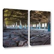 'Abandoned Warehouse' Rectangle Photographic Print Multi-Piece Image on Canvas in Blue/Brown