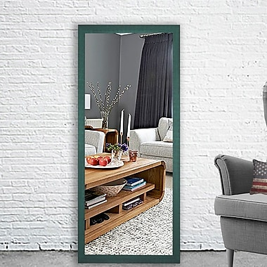 August Grove Cottage Aqua Framed Mirror; 59.5'' H x 20.5'' W