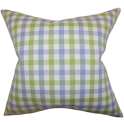 August Grove Jewell Plaid Throw Pillow Cover; 20'' x 20''