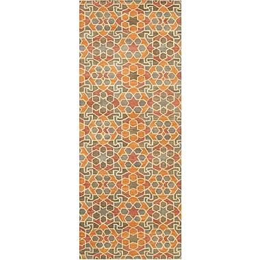 Bloomsbury Market Devereaux Hand Tufted Orange Area Rug; Runner 2'6'' x 8'