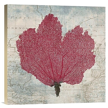 East Urban Home 'Fan Coral' Watercolor Painting Print on Canvas; 18'' H x 18'' W x 1.5'' D