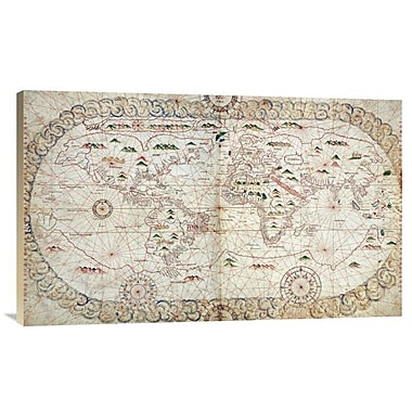 East Urban Home 'Portolan Atlas of the World' Watercolor Painting Print on Canvas