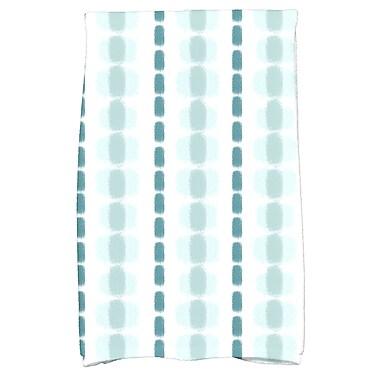 Ivy Bronx Leal Watercolor Stripe Hand Towel; Teal