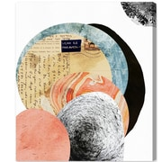 Ivy Bronx 'Letters to the Moon' Painting Print on Canvas; 20'' H x 17'' W