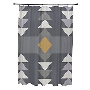 Ivy Bronx Collete Sagebrush Geometric Print Shower Curtain; Gray