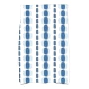 Ivy Bronx Leal Striped Towel; Blue