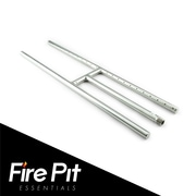 Fire Pit Essentials Stainless Steel Gas Fire Pit; 0.75'' H x 24'' W x 6'' D