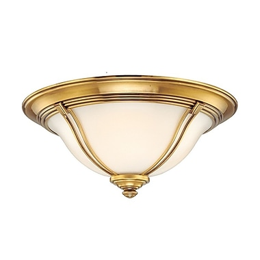 Darby Home Co Emjay Flush Mount; 6.5'' / Flemish Brass