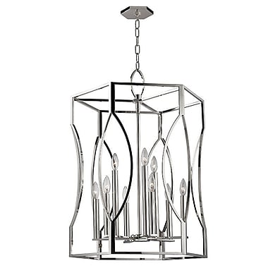 Darby Home Co Elnora 9-Light Foyer Pendant; Polished Nickel