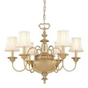 Darby Home Co Ellington 6-Light Shaded Chandelier; Aged Brass