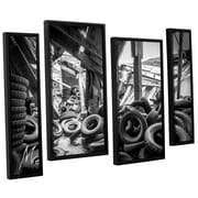 17 Stories 'Abandoned Tires' Framed Photographic Print Multi-Piece Image on Canvas
